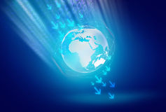 De abstracte Digitale Achtergrond van de Wereld Royalty-vrije Stock Afbeelding