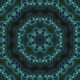 De abstracte digitale caleidoscoop van de de symmetrie creatieve textuur van de patroondecoratie, magische mandalamanier, verf royalty-vrije illustratie
