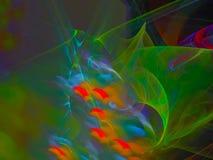 De abstracte digitale fractal glanzende achtergrond van de de discomacht van het motiebehang, de mooie werveling van het ontwerpp stock illustratie