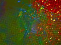 De abstracte digitale fractal glanzende achtergrond van het motiebehang, de mooie werveling van het ontwerppatroon, onduidelijk b vector illustratie