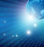 De abstracte digitale globale achtergrond van technologieinternet Stock Afbeelding