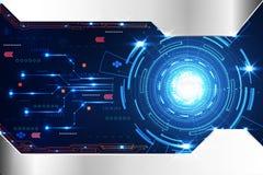 De abstracte digitale kring technologie van de achtergrondconceptencirkel me Vector Illustratie
