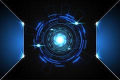De abstracte digitale kring technologie van de achtergrondconceptencirkel me Stock Illustratie