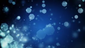 De abstracte donkerblauwe Kerstmisachtergrond met bokeh defocused lichten stock video