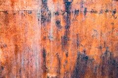 De abstracte donkere versleten roestige achtergrond van de metaaltextuur Royalty-vrije Stock Afbeeldingen