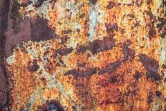 De abstracte donkere versleten roestige achtergrond van de metaaltextuur Royalty-vrije Stock Fotografie