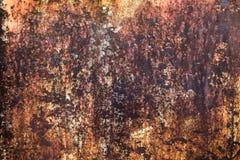 De abstracte donkere versleten roestige achtergrond van de metaaltextuur Stock Foto