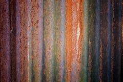 De abstracte donkere versleten roestige achtergrond van de metaaltextuur Royalty-vrije Stock Afbeelding