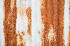 De abstracte donkere versleten roestige achtergrond van de metaaltextuur Stock Afbeelding