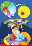 De abstracte droom van de circusclown Royalty-vrije Stock Afbeelding