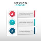 De abstracte elementen cirkel bedrijfs van Infographics, vlakke het ontwerp vectorillustratie van het presentatiemalplaatje voor  Stock Afbeelding