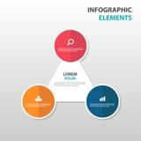 De abstracte elementen pijl bedrijfs van Infographics, vlakke het ontwerp vectorillustratie van het presentatiemalplaatje voor de Stock Fotografie