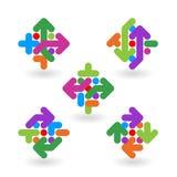 De abstracte elementen van het embleemontwerp Stock Foto