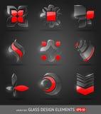 De abstracte elementen van het glasontwerp Stock Afbeeldingen