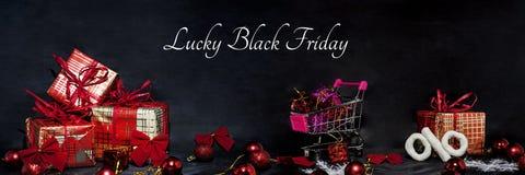 De abstracte foto van Black Friday Gelukkige Vrolijke Kerstmis Royalty-vrije Stock Foto's