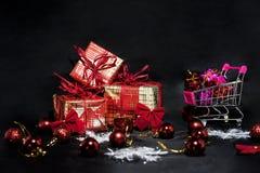 De abstracte foto van Black Friday Gelukkige Vrolijke Kerstmis Stock Foto's