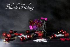 De abstracte foto van Black Friday Gelukkige Vrolijke Kerstmis Stock Fotografie