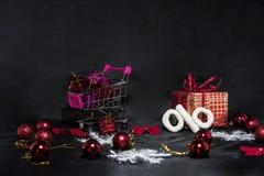 De abstracte foto van Black Friday Gelukkige Vrolijke Kerstmis Stock Afbeeldingen