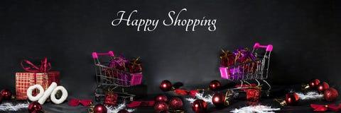 De abstracte foto van Black Friday Gelukkige Vrolijke Kerstmis Royalty-vrije Stock Foto