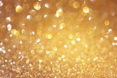 De abstracte foto van licht barstte en schittert bokeh lichten het beeld is vaag en gefiltreerd royalty-vrije stock afbeelding