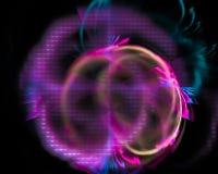De abstracte fractal grafische, moderne fantasie van de vorm creatieve energie, mooie ontwerpmotie, glanzende werveling, stock illustratie