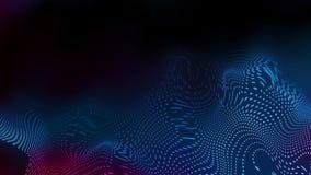 De abstracte futuristische blauwe purpere golvende achtergrond van de gestippelde lijnenmotie vector illustratie