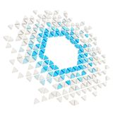 De abstracte geïsoleerde achtergrond van het copyspace hexagon kader Stock Afbeelding