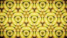 De abstracte geelgroene achtergrond van het bloempatroon Royalty-vrije Stock Afbeeldingen