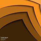 De abstracte gele 3d van het de lijncertificaat van de pijlgolf abstracte achtergrond Stock Foto