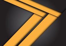 De abstracte gele richting van de pijlsnelheid op donkere grijze ontwerp moderne futuristische achtergrondtextuurvector vector illustratie