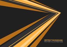 De abstracte gele richting van de snelheidspijl op zwarte ontwerp moderne futuristische vector als achtergrond vector illustratie
