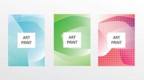 De abstracte geometrische achtergrond van het lijnpatroon voor het ontwerp van de bedrijfsbrochuredekking Blauwe, gele, rode, ora royalty-vrije illustratie