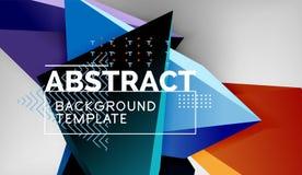 De abstracte geometrische achtergrond van kleurendriehoeken Mozaïek driehoekige lage polystijl vector illustratie
