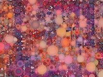 De abstracte geometrische minimalistic achtergrond van de muurkunst in heldere kleuren Stock Fotografie