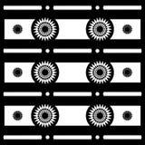 De abstracte geometrische patronen van het Zonmotief in Zwart-wit, Vector Royalty-vrije Stock Fotografie