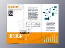 De abstracte geometrische vector van het het ontwerpmalplaatje van de patroonbrochure tri Stock Fotografie