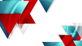 De abstracte geometrische videoanimatie van technologie stock videobeelden