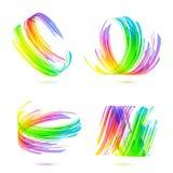 De abstracte geplaatste achtergronden van regenboogkleuren Stock Afbeeldingen