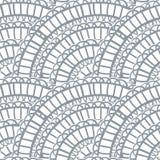 De abstracte getrokken hand van het kant vector naadloze patroon vector illustratie
