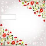 De abstracte glanzende achtergrond van de papaverbloem Royalty-vrije Stock Afbeeldingen