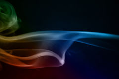 De abstracte Golven van de Rook Stock Afbeeldingen