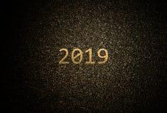 De abstracte gouden achtergrond van 2019 stock foto