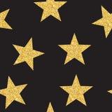 De abstracte Gouden Achtergrond Vectorillustra van het Ster Naadloze Patroon Royalty-vrije Stock Foto