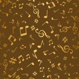 De abstracte gouden muziek neemt nota van naadloze patroon vectorillustratie als achtergrond voor uw ontwerp stock illustratie