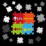 De abstracte grafische achtergrond van de raadselinformatie Royalty-vrije Stock Foto