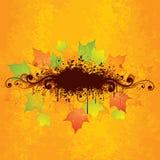 De abstracte grafische herfst Royalty-vrije Stock Foto