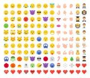 De abstracte grappige vlakke stijl emoticon plaatste vector illustratie