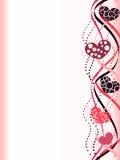 De abstracte grens van de Valentijnskaart Stock Afbeelding