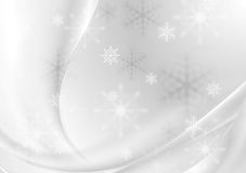 De abstracte grijze achtergrond van parel golvende Kerstmis Stock Foto