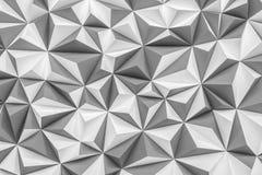 De abstracte grijze lage polyachtergrond met 3d exemplaarruimte geeft terug Stock Afbeelding